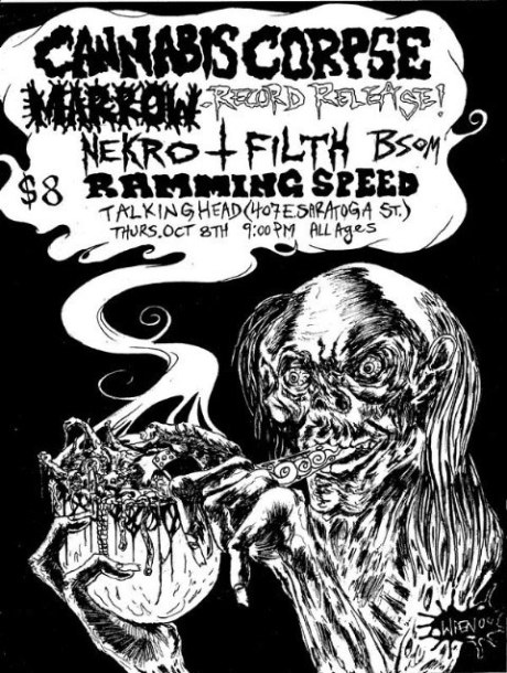 Cannabis Corpse at Talking Head Club on 8 October 2009