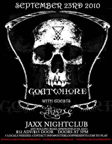 Goatwhore at Jaxx on 23 September 2010