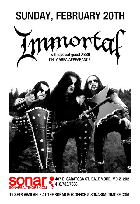 Immortal at Sonar on 20 February 2011