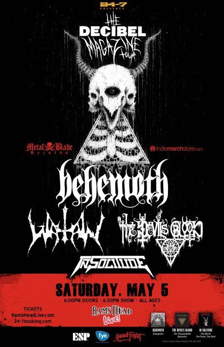 Behemoth at Rams Head Live on 5 May 2012