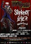 Mayhem Festival at JIffy Lube Live on 29 July 2012