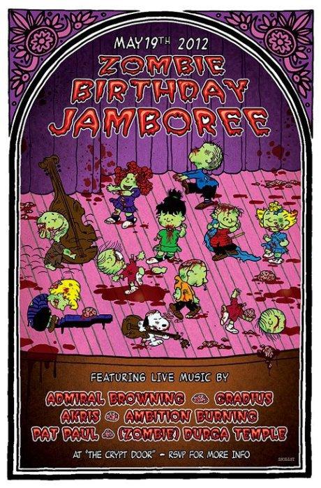 Zombie Birthday Jamboree at the Cellar Door on 19 May 2012