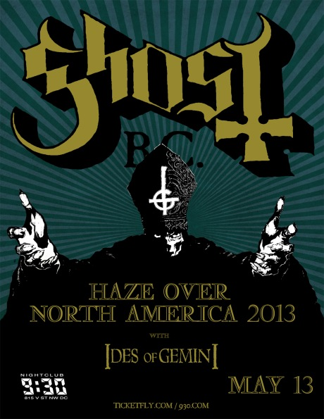 Ghost at the 9:30 Club on 13 May 2013