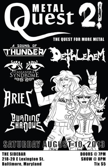 Metal Quest 2 at the Sidebar on 10 August 2013
