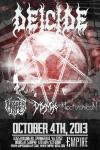 Deicide at Empire on 4 October 2013
